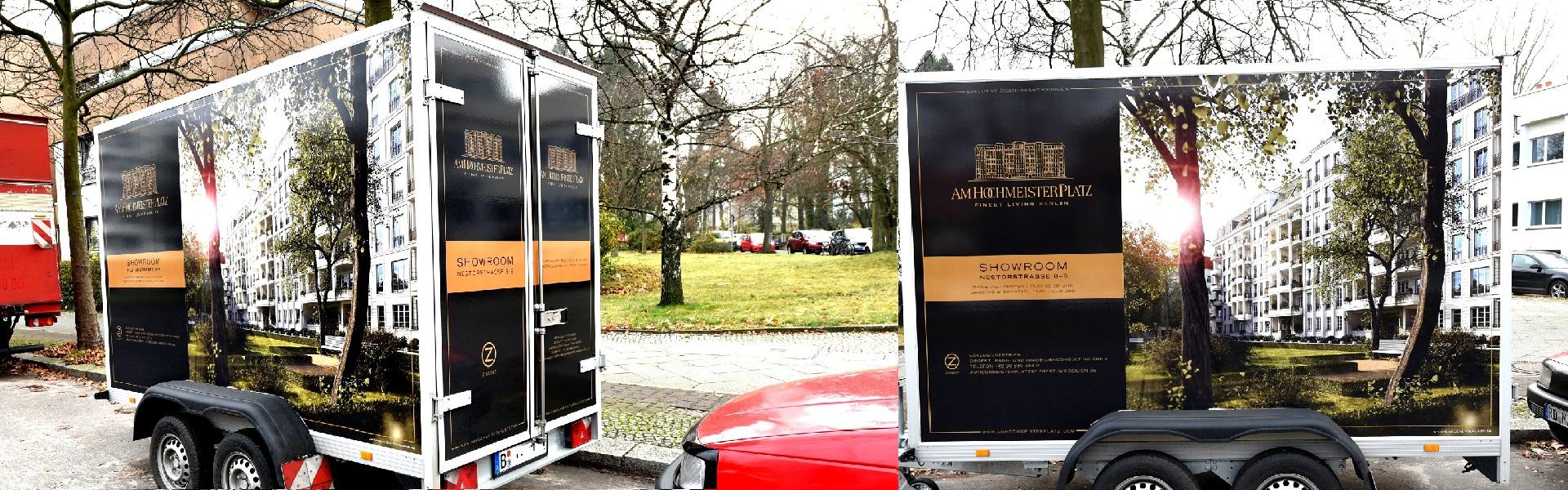 werbung auf pkw anh ngern kudammwerbung werbeagentur am kurf rstendamm in berlin. Black Bedroom Furniture Sets. Home Design Ideas